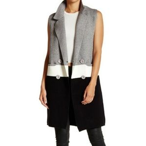 ISO Love Token colorblock sleeveless vest M